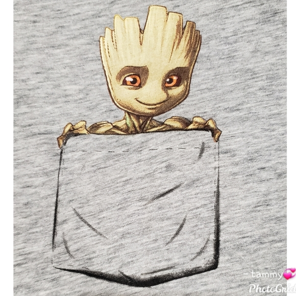 Marvel Femme Guardians of The Galaxy Groot Tape Tank Top